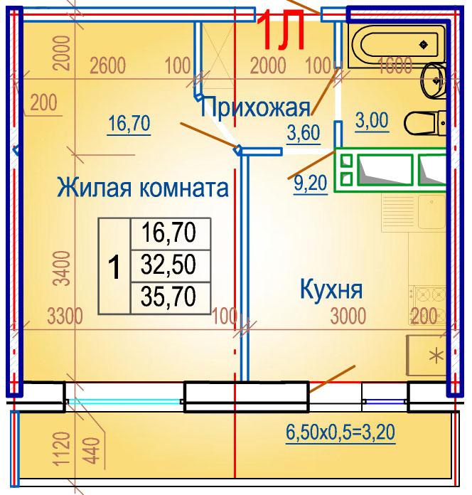 Планировки ЖСК Вершина Краснодар | план - 4