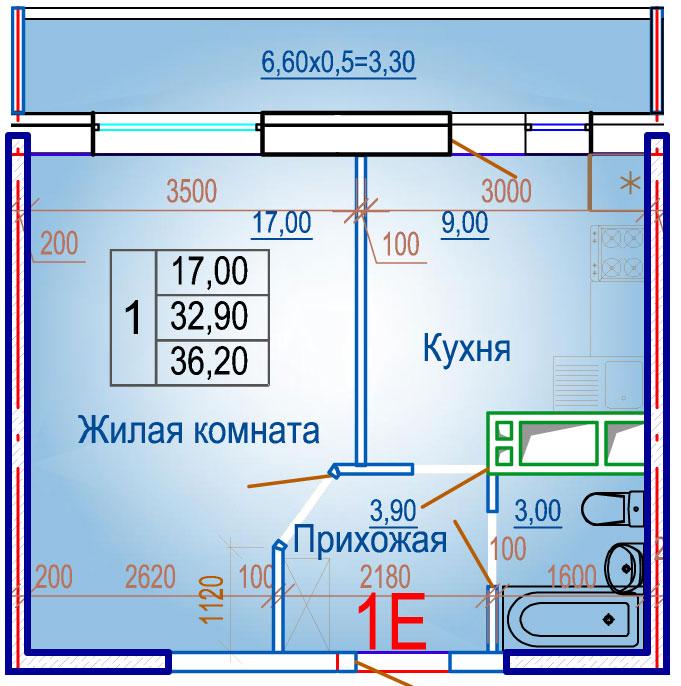 Планировки ЖСК Вершина Краснодар | план - 5